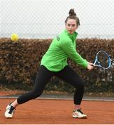6 April 2019; Jane Fennelly of Team Ireland during the Irish Ladies Fed Cup Team Open Training Session at Naas Lawn Tennis Club in Naas, Co. Kildare ahead of the Montenegro Challenge. Photo by David Fitzgerald/Sportsfile