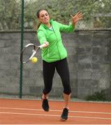6 April 2019; Rachael Dillon of Team Ireland during the Irish Ladies Fed Cup Team Open Training Session at Naas Lawn Tennis Club in Naas, Co. Kildare ahead of the Montenegro Challenge. Photo by David Fitzgerald/Sportsfile