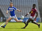 6 April 2019; Paul Cahillane of Laois in action against Boidu Sayeh of Westmeath during the Allianz Football League Division 3 Final match between Laois and Westmeath at Croke Park in Dublin. Photo by Ray McManus/Sportsfile