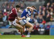 6 April 2019; James Dolan of Westmeath drags down Marty Scully of Laois, for which he received a black card, during the Allianz Football League Division 3 Final match between Laois and Westmeath at Croke Park in Dublin. Photo by Ray McManus/Sportsfile