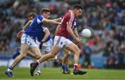 6 April 2019; Denis Corroonof Westmeath in action against Kieran Lillis of Laois during the Allianz Football League Division 3 Final match between Laois and Westmeath at Croke Park in Dublin. Photo by Ray McManus/Sportsfile