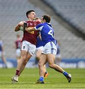 6 April 2019; Ronan O'Toole of Westmeath in action against Gareth Dillon of Laois during the Allianz Football League Division 3 Final match between Laois and Westmeath at Croke Park in Dublin. Photo by Ray McManus/Sportsfile
