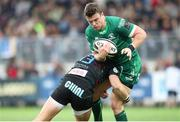 6 April 2019; Tom Farrell of Connacht is tackled by Giulio Bisegni of Zebre Rugby Club during the Guinness Pro14 Round 19 game between Zebre Rugby Club and Connacht Rugby at Stadio Lanfranchi in Parma, Italy. Photo by Roberto Bregani/Sportsfile