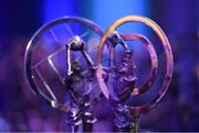 6 April 2019; A view of trophies prior to the AIB GAA Club Player 2018/19 Awards at Croke Park in Dublin. Photo by Seb Daly/Sportsfile