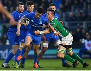 6 April 2019; Noel Reid of Leinster is tackled by Braam Steyn of Benetton during the Guinness PRO14 Round 19 match between Leinster and Benetton at the RDS Arena in Dublin. Photo by Ramsey Cardy/Sportsfile