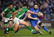 6 April 2019; Barry Daly of Leinster in action against Tommaso Allan of Benetton during the Guinness PRO14 Round 19 match between Leinster and Benetton at the RDS Arena in Dublin. Photo by Ramsey Cardy/Sportsfile