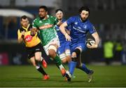 6 April 2019; Barry Daly of Leinster makes a break during the Guinness PRO14 Round 19 match between Leinster and Benetton at the RDS Arena in Dublin. Photo by David Fitzgerald/Sportsfile