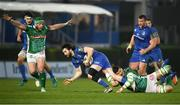6 April 2019; Barry Daly of Leinster is tackled by Sebastian Negri da Ollegio of Benetton during the Guinness PRO14 Round 19 match between Leinster and Benetton at the RDS Arena in Dublin. Photo by David Fitzgerald/Sportsfile