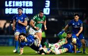 6 April 2019; Barry Daly of Leinster is tackled by Sebastian Negri da Ollegio of Benetton during the Guinness PRO14 Round 19 match between Leinster and Benetton at the RDS Arena in Dublin. Photo by Ramsey Cardy/Sportsfile