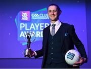 6 April 2019; Kieran Molloy of Corofin with his AIB GAA Club Footballer of the Year Award at the AIB GAA Club Player 2018/19 Awards at Croke Park in Dublin. Photo by Stephen McCarthy/Sportsfile