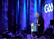 6 April 2019; Denis O'Callaghan, Head of AIB Retail Banking, speaking at the AIB GAA Club Player 2018/19 Awards at Croke Park in Dublin. Photo by Stephen McCarthy/Sportsfile