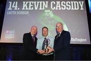 6 April 2019; Gweedore PRO Brendan Boyle is presented with the award on behalf of Kevin Cassidy by Uachtarán Chumann Lúthchleas Gael John Horan, right, and Denis O'Callaghan, Head of AIB Retail Banking, at the AIB GAA Club Player 2018/19 Awards at Croke Park in Dublin. Photo by Stephen McCarthy/Sportsfile
