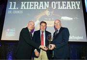 6 April 2019; Vince Casey, Dr Crokes management team, is presented with the award on behalf of Kieran O'Leary by Uachtarán Chumann Lúthchleas Gael John Horan, right, and Denis O'Callaghan, Head of AIB Retail Banking, at the AIB GAA Club Player 2018/19 Awards at Croke Park in Dublin. Photo by Stephen McCarthy/Sportsfile
