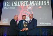 6 April 2019; Pauric Mahony of Ballygunner is presented with his award by Uachtarán Chumann Lúthchleas Gael John Horan, right, and Denis O'Callaghan, Head of AIB Retail Banking, at the AIB GAA Club Player 2018/19 Awards at Croke Park in Dublin. Photo by Stephen McCarthy/Sportsfile