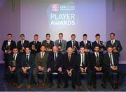 6 April 2019; The AIB GAA Club Hurling Team of the Year, with Uachtarán Chumann Lúthchleas Gael John Horan and Denis O'Callaghan, Head of AIB Retail Banking, at the AIB GAA Club Player 2018/19 Awards at Croke Park in Dublin. Photo by Stephen McCarthy/Sportsfile