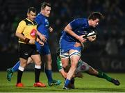 6 April 2019; Jack Dunne of Leinster is tackled by Tomas Baravalle of Benetton during the Guinness PRO14 Round 19 match between Leinster and Benetton at the RDS Arena in Dublin. Photo by David Fitzgerald/Sportsfile
