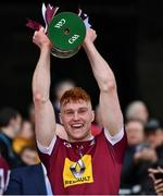 6 April 2019; Ronan Wallace of Westmeath lifts the cup after the Allianz Football League Division 3 Final match between Laois and Westmeath at Croke Park in Dublin. Photo by Ray McManus/Sportsfile
