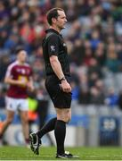 6 April 2019; Referee Jerome Henry during the Allianz Football League Division 3 Final match between Laois and Westmeath at Croke Park in Dublin. Photo by Ray McManus/Sportsfile