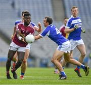 6 April 2019; Boidu Sayehof Westmeath in action against /Gareth Dillon of Laois during the Allianz Football League Division 3 Final match between Laois and Westmeath at Croke Park in Dublin. Photo by Ray McManus/Sportsfile