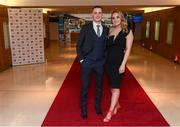 6 April 2019; Corofin footballer Kieran Molloy and Katie Burke on their arrival at the AIB GAA Club Player 2018/19 Awards at Croke Park in Dublin. Photo by Stephen McCarthy/Sportsfile