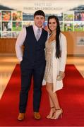 6 April 2019; Martin Bennett and Niamh Walsh on their arrival at the AIB GAA Club Player 2018/19 Awards at Croke Park in Dublin. Photo by Stephen McCarthy/Sportsfile