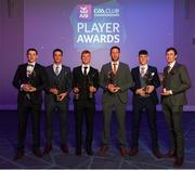 6 April 2019; Ballyhale Shamrocks recipients, from left, TJ Reid, Colin Fennelly, Adrian Mullen, Michael Fennelly, Eoin Cody and Joey Holden at the AIB GAA Club Player 2018/19 Awards at Croke Park in Dublin. Photo by Stephen McCarthy/Sportsfile