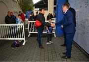 6 April 2019; Leinster players Rory O'Loughlin and Ross Molony in Autograph Alley ahead of the Guinness PRO14 Round 19 match between Leinster and Benetton at the RDS Arena in Dublin. Photo by Ramsey Cardy/Sportsfile