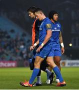 6 April 2019; Noel Reid of Leinster is assisted from the pitch during the Guinness PRO14 Round 19 match between Leinster and Benetton at the RDS Arena in Dublin. Photo by Ramsey Cardy/Sportsfile