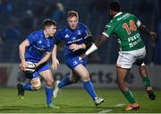 6 April 2019; Luke McGrath, left, and James Tracy of Leinster during the Guinness PRO14 Round 19 match between Leinster and Benetton at the RDS Arena in Dublin. Photo by Ramsey Cardy/Sportsfile
