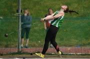 07 April 2019; Laura Dolan of Ferbane A.C., Co. Offaly, competing in the Women's Hammer (4kg) during the AAI National Spring Throws at AIT in Athlone, Co Westmeath.  Photo by Harry Murphy/Sportsfile
