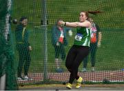 07 April 2019; Laura Dolan (4kg) of Ferbane A.C., Co. Offaly, competing in the Women's Hammer (4kg) during the AAI National Spring Throws at AIT in Athlone, Co Westmeath.  Photo by Harry Murphy/Sportsfile