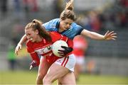 07 April 2019; Ashling Hutchings of Cork in action against Noelle Healy of Dublin during the Lidl Ladies NFL Round 7 match between Cork and Dublin at Mallow in Co. Cork. Photo by Matt Browne/Sportsfile