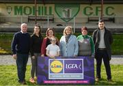 6 April 2019; Ladies Gaelic Football Association President Marie Hickey with members of Mohill GAA Club following the Lidl All Ireland Post Primary School Junior A Final match between Coláiste Bhaile Chláir, Claregalway, Galway, and St Catherine's, Armagh, at Philly McGuinness Memorial Park in Mohill in Co Leitrim. Photo by Stephen McCarthy/Sportsfile