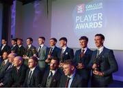 6 April 2019; Players seleected on the AIB GAA Hurling Team of the Year pose for a photograph at the AIB GAA Club Player 2018/19 Awards at Croke Park in Dublin. Photo by Stephen McCarthy/Sportsfile