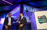 6 April 2019; AIB GAA Club Footballer of the Year Kieran Molloy is interviewed by MC Damien Lawlor during the AIB GAA Club Player 2018/19 Awards at Croke Park in Dublin. Photo by Stephen McCarthy/Sportsfile