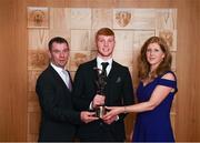 6 April 2019; AIB GAA Club Hurler of the Year Adrian Mullen of Ballyhale Shamrocks with parents Declan and Monica Mullen at the AIB GAA Club Player 2018/19 Awards at Croke Park in Dublin. Photo by Stephen McCarthy/Sportsfile