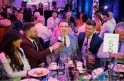 6 April 2019; The Two Johnnies interview Patrick Fox of Mullinalaghta during the AIB GAA Club Player 2018/19 Awards at Croke Park in Dublin. Photo by Stephen McCarthy/Sportsfile