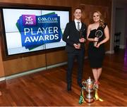 6 April 2019; AIB GAA Club Footballer of the Year Kieran Molloy of Corofin with partner Katie Burke at the AIB GAA Club Player 2018/19 Awards at Croke Park in Dublin. Photo by Stephen McCarthy/Sportsfile