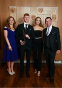 6 April 2019; AIB GAA Club Hurler of the Year Adrian Mullen of Ballyhale Shamrocks with parents Declan and Monica Mullen and partner Laura MacDonald at the AIB GAA Club Player 2018/19 Awards at Croke Park in Dublin. Photo by Stephen McCarthy/Sportsfile