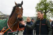 7 April 2019; Jockey Davy Russell with Tiger Roll as the winner of the 2019 Randox Health Aintree Grand National Tiger Roll is led through the village of Summerhill in County Meath. Photo by Harry Murphy/Sportsfile