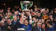 31 March 2019; Jason Doherty of Mayo lifts the cup following the Allianz Football League Division 1 Final match between Kerry and Mayo at Croke Park in Dublin. Photo by Stephen McCarthy/Sportsfile