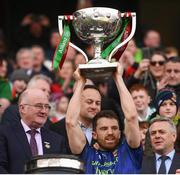 31 March 2019; Chris Barrett of Mayo lifts the cup following the Allianz Football League Division 1 Final match between Kerry and Mayo at Croke Park in Dublin. Photo by Stephen McCarthy/Sportsfile