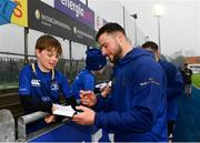 8 April 2019; Robbie Henshaw during a signing session for Leinster Rugby season ticket holders at Energia Park in Donnybrook, Dublin. Photo by Ramsey Cardy/Sportsfile