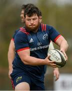 8 April 2019; Ciaran Parker during Munster Rugby Squad Training at the University of Limerick in Limerick. Photo by Harry Murphy/Sportsfile