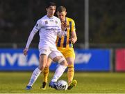5 April 2019; Neil Farrugia of UCD in action against Kevin Lynch of Waterford during the SSE Airtricity League Premier Division match between UCD and Waterford at The UCD Bowl in Belfield, Dublin. Photo by Ben McShane/Sportsfile