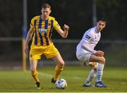 5 April 2019; Kevin Lynch of Waterford in action against Neil Farrugia of UCD during the SSE Airtricity League Premier Division match between UCD and Waterford at The UCD Bowl in Belfield, Dublin. Photo by Ben McShane/Sportsfile