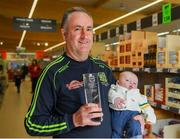 9 April 2019; The Lidl / Irish Daily Star Manager of the Month for March was announced today as Eamonn Murray from Meath. Under Eamonn's guidance, Meath have progressed to the Division 3 semi-finals in the 2019 Lidl Ladies National Football League. Meath won six out of their seven group fixtures and they claimed victories in all three of their games in March, against Longford, Kildare and Wicklow. Pictured is Eamonn Murray with his grandson, Caolan Jackson, aged four months, at the Lidl Store in Dunshaughlin, Co. Meath. Photo by Harry Murphy/Sportsfile