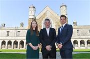 10 April 2019; NUI Galway Professor John McHale, centre, with Maria Kinsella, WGPA Chair, and Paul Flynn, GPA CEO, at the launch of NUI Galway Scholarships with GPA and WGPA at NUI Galway in Galway. Photo by Piaras Ó Mídheach/Sportsfile