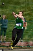 7 April 2019; Laura Dolan of Ferbane A.C., Co. Offaly, competing in the Women's Hammer (4kg) during the AAI National Spring Throws at AIT in Athlone, Co Westmeath.  Photo by Harry Murphy/Sportsfile