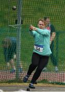 7 April 2019; Jean Daly of Na Fianna A.C., Co. Meath, competing in the Women's Hammer (3kg) during the AAI National Spring Throws at AIT in Athlone, Co Westmeath.  Photo by Harry Murphy/Sportsfile
